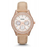Fossil ES3104 Stella Multifunction Leather Watch (Sand)
