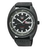 """Seiko 5 """"Turtle"""" Sports LIMITED EDITION Automatic Men's Black Leather Strap Watch SRPB73K1 (Black)"""