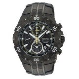 Seiko Chronograph Alarm Men's Watch SNAD37P1 (Black Ion)