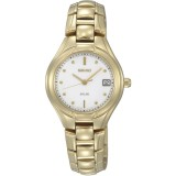 Seiko SUT066P1 Ladies Stainless Steel Solar  Watch (Gold)
