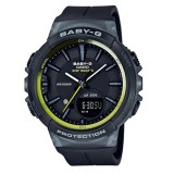 (OFFICIAL MALAYSIA WARRANTY) Casio Baby-G BGS-100-1A STEP TRACKER Resin Women's Watch (Black & Green)