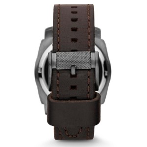 Fossil ME1122 Mechanical Twist Leather Watch (Brown)