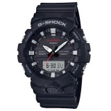 (OFFICIAL MALAYSIA WARRANTY)  Casio G-SHOCK GA-800-1A STANDARD ANALOG-DIGITAL Men's Resin Watch (Black & Silver)