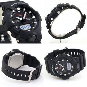 (OFFICIAL MALAYSIA WARRANTY)  Casio G-SHOCK GA-800-1A STANDARD ANALOG-DIGITAL Men's Resin Watch (Black & Silver)