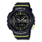 (OFFICIAL MALAYSIA WARRANTY) Casio Baby-G BGA-240-1A2 RUNNING SERIES Resin Women's Watch (Black & Green)
