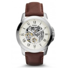 Fossil ME3052 Grant Three Hand Automatic Leather Watch (Brown)