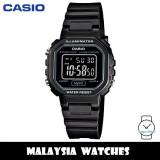 (100% Original) Casio LA-20WH-1B Classic Digital Black Dial Black Resin Watch LA20WH LA20WH-1B