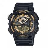 Casio's Men AEQ-110BW-9AV Digital Analog 10 Year Battery Life Resin Black & Gold Watch (Free Shipping)