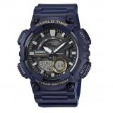 Casio's Men AEQ-110W-2AV Digital Analog 10 Year Battery Life Resin Blue Watch (Free Shipping)
