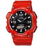 Casio's Men AQ-S810WC-4AV Solar Digital Analog Resin Light Red Watch (Free Shipping)