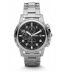 Fossil FS4542 Dean Chronograph Stainless Steel Watch (Black)