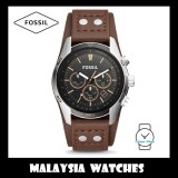 Fossil CH2891 Coachman Chronograph Brown Leather Watch (100% Original)