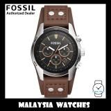(OFFICIAL WARRANTY) Fossil Men's CH2891 Coachman Chronograph Brown Leather Watch (2 Years International Warranty)