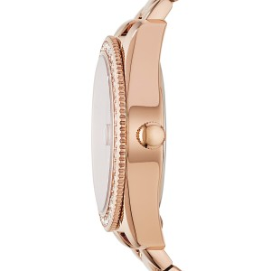 Fossil Women's ES4318 Scarlette Three-Hand Date Stainless Steel Watch (Rose Gold)