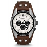 Fossil CH2890 Coachman Chronograph Leather Watch (Brown)