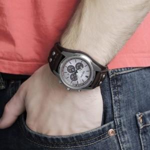 (OFFICIAL WARRANTY) Fossil Men's CH2565 Coachman Chronograph Brown Leather Watch (2 Years International Warranty)