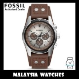 (OFFICIAL WARRANTY) Fossil Men's CH2565 Coachman Chronograph Brown Leather Watch (2 Years International Warranty)