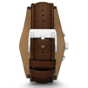 Fossil CH2565 Cuff Chronograph Leather Watch (Brown)