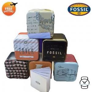 Fossil Men ME3128 Nate Cream Skeleton Dial Automatic Watch (Dark Brown)