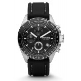 Fossil Decker Chronograph Men's Black Resin Strap Watch CH2573