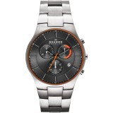 Skagen Men's SKW6076 Balder Chronograph Grey Dial Titanium Watch (Grey)