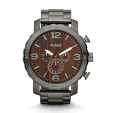 Fossil JR1355 Nate Chronograph Stainless Steel Watch (Brown)