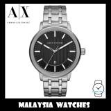 (100% Original) Armani Exchange Men's AX1455 Street Black Dial Silver Stainless Steel Watch (2 Years International Warranty)