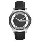 Armani Exchange Men's AX2186 Smart Black Dial Leather Watch (Black)