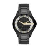 Armani Exchange Men's AX2192 Hampton Black Dial Stainless Steel Watch (Black)