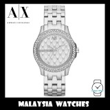 (100% Original) Armani Exchange Ladies' AX5215 Hamilton Silver Quilted Dial Stainless Steel Watch (2 Years International Warranty)