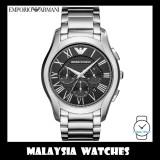 (100% Original) Emporio Armani Men's AR11083 Silver Black Dial Stainless Steel Watch (2 Years International Warranty)