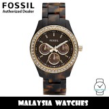 (OFFICIAL WARRANTY) Fossil ES2795 Stella Multifunction Tortoise Resin Watch (2 Years Fossil Warranty)
