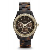 Fossil ES2795 Stella Multifunction Resin Watch (Tort With Gold Tone)