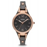 Fossil ES3077 Georgia Mini Three Hand Leather Watch (Smoke Rose)