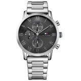 Tommy Hilfiger Men's 1791397 Kane Multifunction Stainless Steel Watch (Silver)