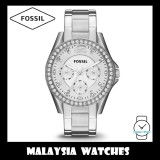 Fossil Women ES3202 Riley Multifunction Stainless Steel Watch (Silver)