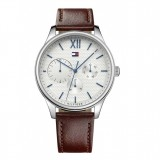 Tommy Hilfiger Men's 1791418 Damon Multifunction Brown Leather Watch (Brown)