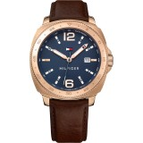 Tommy Hilfiger Men's 1791431 Lucas Brown Leather Watch (Brown)