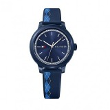 Tommy Hilfiger Ladies' 1781814 Ashley Blue Rubber Strap Watch (Blue)