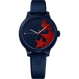 Tommy Hilfiger Ladies' 1781795 Ashley Navy Blue Rubber Strap Watch (Navy Blue)