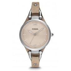 Fossil ES2830 Georgia Three Hand Leather Watch (Sand)
