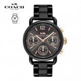 (100% ORIGINAL) Coach Ladies' 14502840 Delancey Sport Round Analog Stainless Steel Watch TWO (2) Years International Warranty (Black)