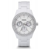 Fossil ES1967 Stella Multifunction Resin Watch (White)