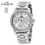(100% ORIGINAL) Coach Ladies' 14502369 Legacy Sport Silver Dial Stainless Steel Watch TWO (2) Years International Warranty (Silver)