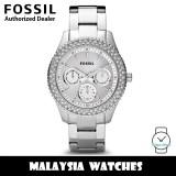 (OFFICIAL WARRANTY) Fossil Women's Stella ES2860I Multifunction Stainless Steel Watch ES2860 (2 Years Fossil Warranty)
