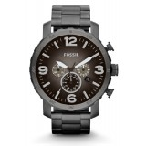 Fossil Men's Black Chronograph Stainless Steel Strap Watch JR1437