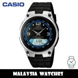 (100% Original) Casio AW-82-1A Illumination Fishing Gear 10 YEAR BATTERY Analog Digital Black Resin Watch AW82 AW82-1A AW-82-1AV AW-82-1AVDF