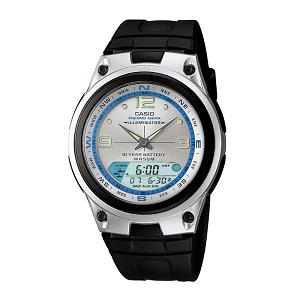 Casio AW-82-7AVDF Illumination Fishing Gear 10 YEAR BATTERY Black & Silver Resin Watch (Free Shipping)