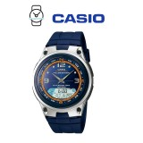 Casio AW-82-2AVDF Illumination Fishing Gear 10 YEAR BATTERY Navy Blue Resin Watch (Free Shipping)