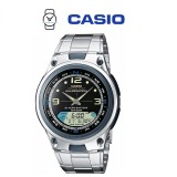 Casio AW-82D-1AVDF Illumination Fishing Gear 10 YEAR BATTERY Silver Stainless Steel Watch (Free Shipping)
